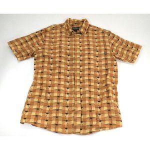 Woolrich Mens Shirt Sz L Button Down Wheat Kayaks